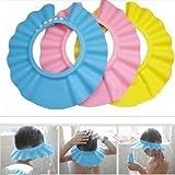 Soft Baby Kids Children Shampoo Bath Shower Cap Hat Wash Hair Shield 3 Color