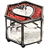 J Devlin Box 778 Ruby Red Heart Stained Glass...