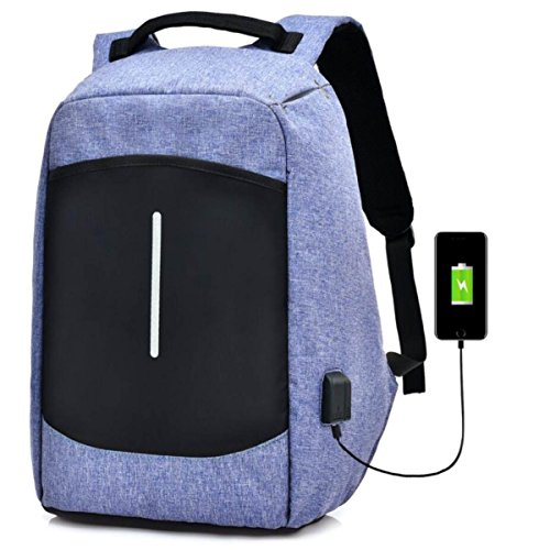 Business Backpack inch 6 Bag Violet quality Charging High Computer Laptop Usb Double Shoulder Bag blue Waterproof 15 45wdInq