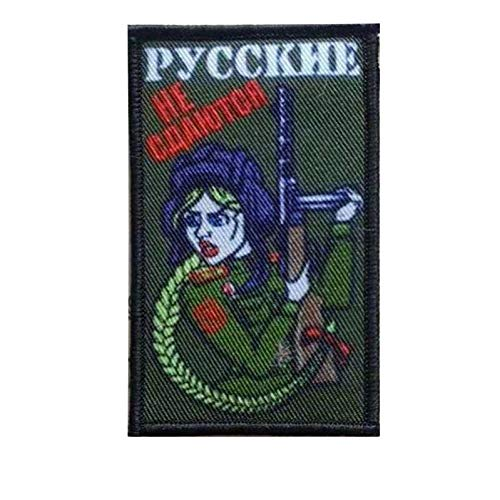 Soviet Russian Ak 47 Tactical Patch Kalashnikov Shell Rifle Gun Assault Army Battle Patch Funny Russia Girl With Ak-47 Military Morale Embroidered Patches Badge (Girl AK-47) ()