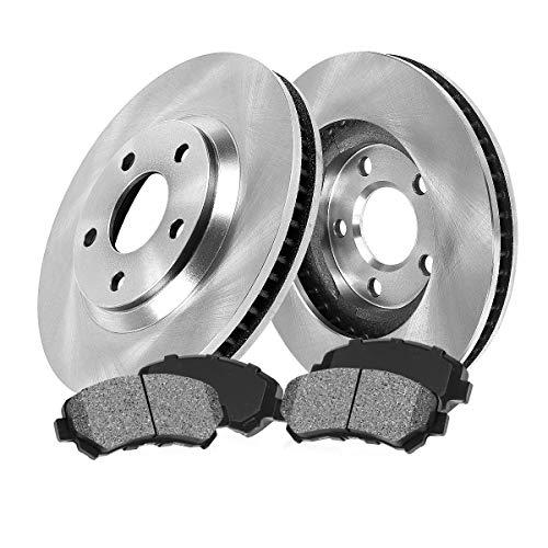 FRONT 281.94 mm Premium OE 5 Lug [2] Brake Disc Rotors + [4] Metallic Brake Pads