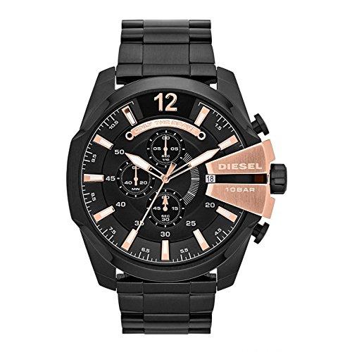 Diesel Men's Mega Chief Chronograph Stainless Steel Watch - Black