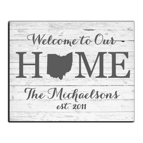 Welcome Home Paper Art Print | Personalized Home Decor | Wedding Gift | Housewarming Gift | Rustic Decor | Farmhouse Decor | Wall Decor | State Print