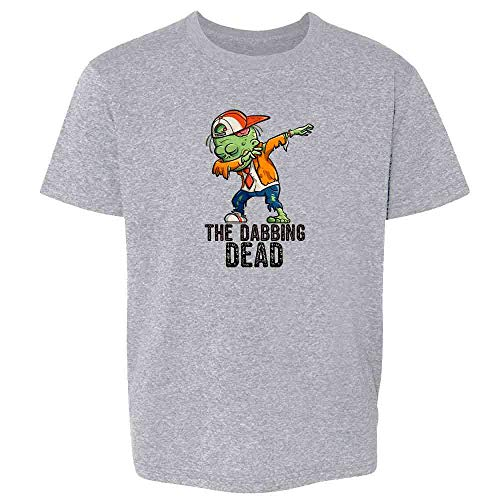 Pop Threads The Dabbing Dead Zombie Halloween Funny Sport Grey L Youth Kids -