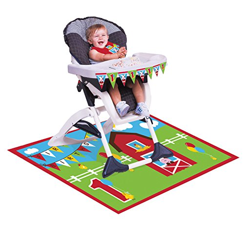 Creative Converting Farmhouse Fun High Chair Birthday Decoration (Wholesale Mardi Gras Decorations)