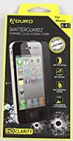 Aduro SHATTERGUARDZ Premium Tempered Glass High Clarity Screen Protector for Apple iPhone 4 / 4S