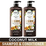 Herbal Essences, Shampoo and Conditioner Kit with Natural Source Ingredients, Color Safe, Bio Renew Coconut Milk, 20.2 fl oz, Kit