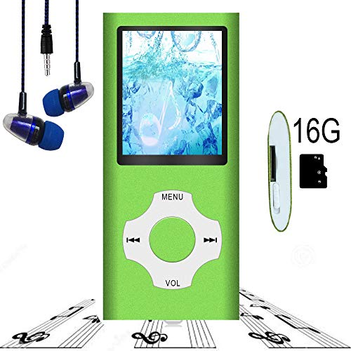 "MP3 Player / MP4 Player, Hotechs MP3 Music Player with 16GB Memory SD Card Slim Classic Digital LCD 1.82"" Screen with FM Radio, ¡­"