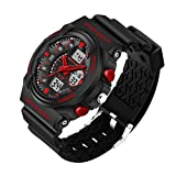 M400 Polar Band Best Deals - Delight eShop Waterproof Digital LCD Stopwatch Date Military Rubber Mens Sport wrist Watch (Red)