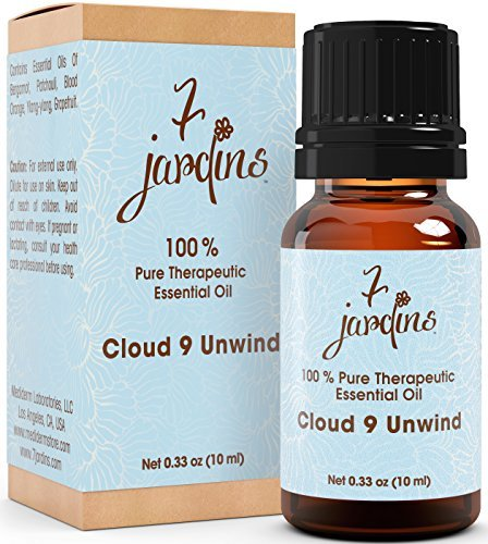7 Jardins Essential Oil 100% Pure Therapeutic, Blend, Cloud 9, 0.33 Ounce