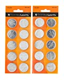 Emazing Lights CR2450 Batteries (20 Pack) 3 Volt Button Cell Lithium