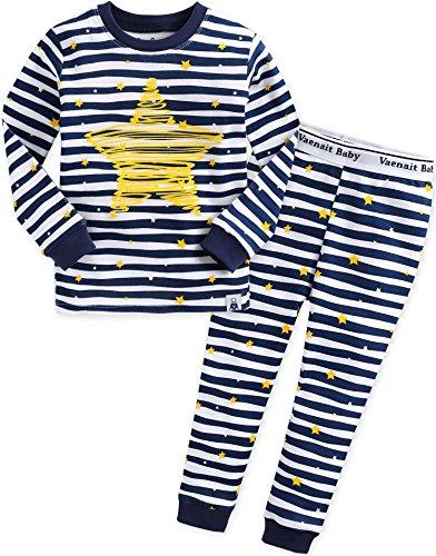 Vaenait Baby 12M-12 Kids Boys Sleepwear Pajama 2pcs Set Bling Blue M