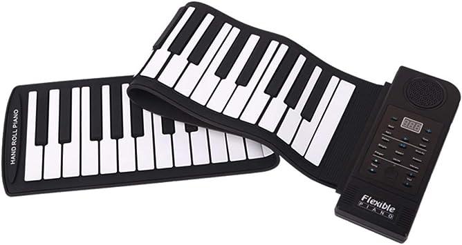 RUIXFRU Digital Piano Eléctrico Enrollable Mano de 61 Teclas ...