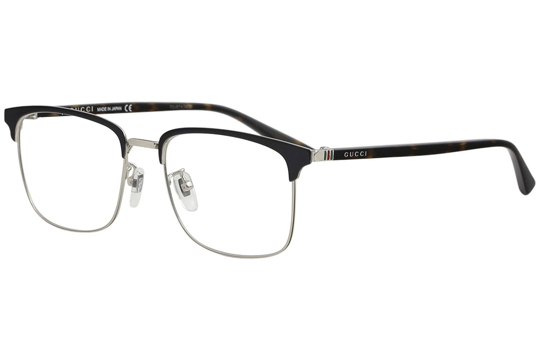 40cc0fdf3d3 Amazon.com  Eyeglasses Gucci GG 0130 O- 006 BLUE   AVANA  Clothing