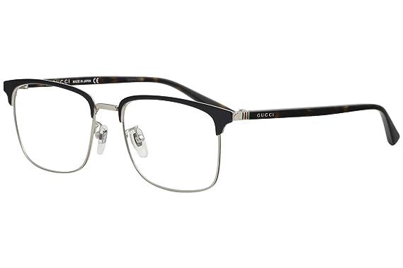 2e4caf87248 Amazon.com  Eyeglasses Gucci GG 0130 O- 006 BLUE   AVANA  Clothing