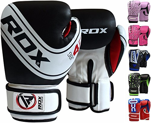 RDX Kids Boxing Gloves Maya Hide Leather 4oz 6oz Junior Punch Bag MMA Training Muay Thai Mitts