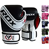 RDX Kids Boxing Gloves Maya Hide Leather 4oz, 6oz Junior Punch Bag MMA Training Muay Thai Mitts
