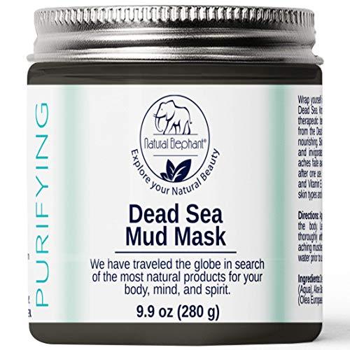 Mud Mask Dead Sea - Natural Elephant Dead Sea Mud Mask (9.9oz Jar (280g)
