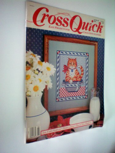 Cross Quick Easy Projects for Cross Stitch Lovers by Leisure Arts -- Leaflet 2021 -- Log Cabin Sampler, Night Lights, Thanks You, Parents -- Apr/May 1989