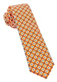 The Tie Bar 100% Printed Silk Twill South Padre Geos Melon 2.5 Inch Tie