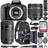 Canon EOS Rebel T7i DSLR Camera with 18-55mm is STM & 55-250mm Lenses Kit w/Advanced Photo & Travel Bundle – Includes: Altura Photo Backpack, SanDisk 64gb SD Card, Monopod, Filter Kit and Neck Strap For Sale