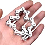 PeNeede Chain Fidget Bracelet Smooth Bike Chain Fidget Toy - Perfect For ADD, ADHD, Anxiety, and Autism Kids/Adult Stress Reducer - Sliver