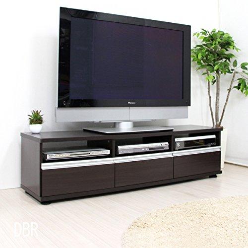 テレビ台 ローボード テレビボード 140cm ロータイプ TV台 テレビラック AVボード TVラック AVラック シンプルデザイン おしゃれ 北欧 収納 木製 ダークブラウン TCP331N-DBR J-Supply B079HDV1L8