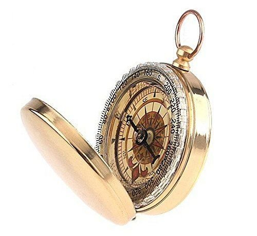 DASARA Old fashion Classic Pocket Watch Style Bronzing Antique Camping (Plath Nautical Bell)