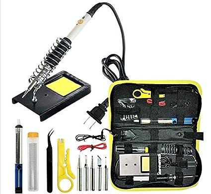 Soldador eléctrico con estaño/Kit de soldadura, estación portative para soldar y desoldar/