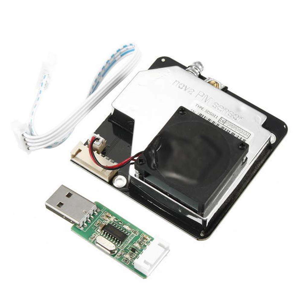 KKmoon PM2.5 Module de Capteur de Haute Pr/écision avec Sortie Num/érique D/étection de Poussi/ère de Qualit/é de lAir SDS011