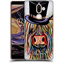 Official Steven Brown Tobi Mori Mccoo Highland Cow Collection 2 Soft Gel Case for Nokia 7 Plus