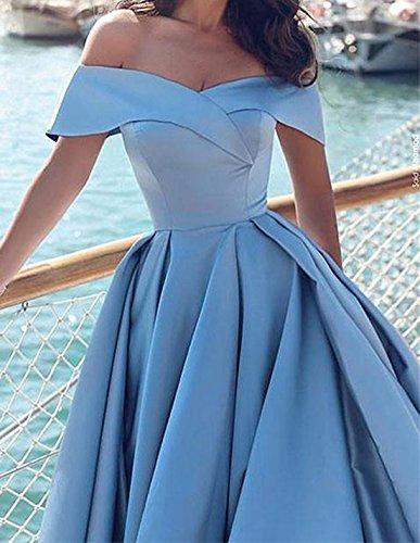Robes De Bal Épaule Bessdress Longues Robes De Soirée Avec Ciel Bleu Split Bd417