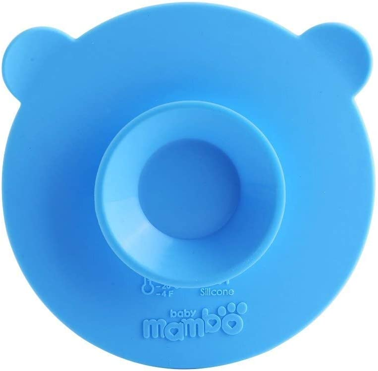 Baby Carrier Silicone Suction Cups Mat Anti Slip Meal Suction Mats Double Sided Magic Suction Dish Sucker for Baby Kids Childrens Pack Of 2 blue