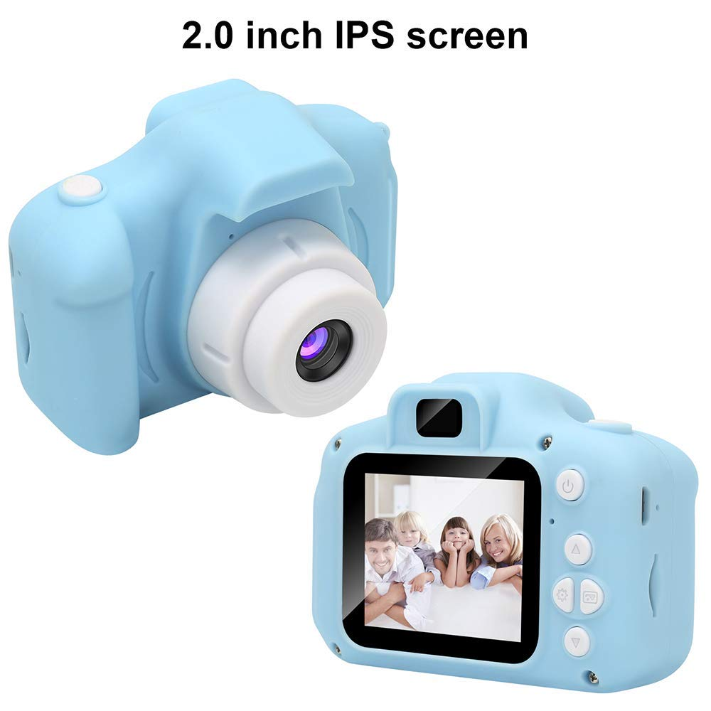 RONSHIN Kids Camera, Kids Digital Video Camera Mini Rechargeable Children Camera Shockproof 8MP HD Toddler Cameras Child Camcorder Blue by RONSHIN