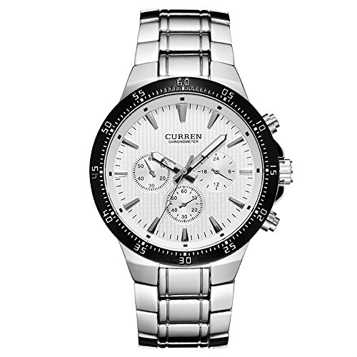 CURREN Men Watch Waterproof Business Casual Luxury Watch Stainless Steel Material Band 8063