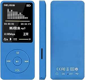 WZY Fashion Portable LCD Screen FM Radio Video Games Movie MP3 MP4 Player Mini Walkman, Memory Capacity:4GB(Black) (Color : Blue)