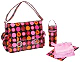 Kalencom Coated Double Buckle Bag, Mod Dots Fire