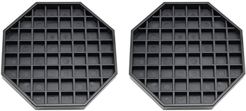 """Happy Reunion Drip Trays 6"""" Coffee Countertop Octagon Drip Tray Black Plastic Coffee Drip Tray With Honeycomb Grid, Pack of 2 (2 Pcs 6"""")"""