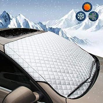 Wide Ling Auto Windschutzscheiben Abdeckung Auto Eis Schnee Frost Scheibenwischer Allwetter Auto Windschutzscheibe Sonnenschutz Schutzabdeckung Passend Für Die Meisten Autos Und Suvs Auto