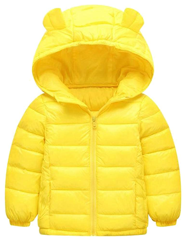 Wofupowga Girls Puffer Zip Lightweight Loose Hoody Quilted Down Jacket Parka Coat