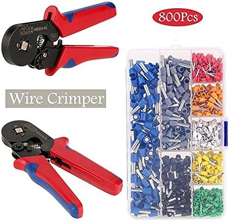 1200pcs Terminal Wire Connectors Ferrule Crimper Plier Crimping Tool 0.25-6mm²