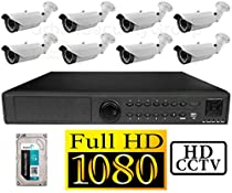 USG 1080P PoE IP CCTV Kit: 8x 1080P IP PoE 2.8-12mm Bullet Cameras + 1x 24 Channel 1080P NVR + 1x 3TB HDD *** High Definition Video Surveillance For Your Home or Business!
