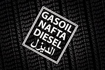 X Parts Plott Sticker Diesel Nafta Gasoil Arabic Tank Petrol