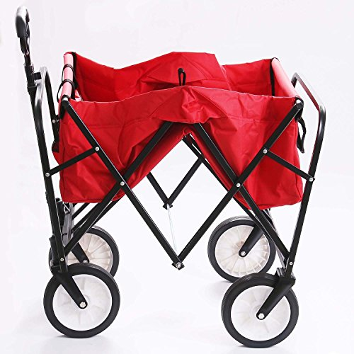femor-collapsible-folding-outdoor-utility-wagon-heavy-duty-garden-cart-for-shopping-beach-outdoors-red