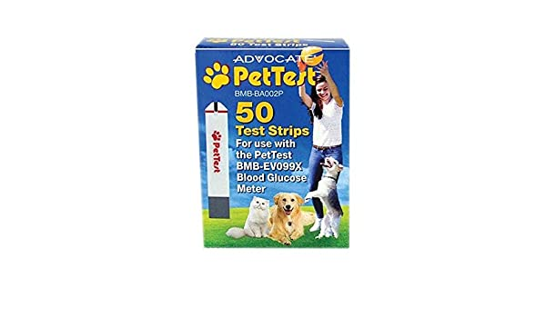 Advocate PetTest Test Strips for Blood Glucose Meter for Dogs and Cats: Amazon.es: Productos para mascotas