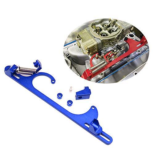Blue Throttle - Tasan Racing Aluminum 4150 4160 Series Throttle Cable Bracket Carburetor Blue
