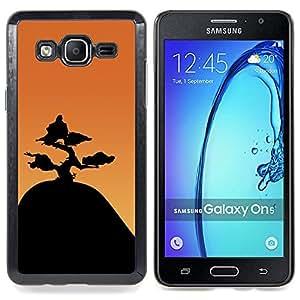 """Qstar Arte & diseño plástico duro Fundas Cover Cubre Hard Case Cover para Samsung Galaxy On5 O5 (Montaña Bonsai"""")"""