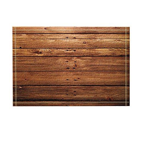 KOTOM Rustic Wooden Decor, Brown Wood Texture with Natural Patterns Bath Rugs, Non-Slip Doormat Floor Entryways Indoor Front Door Mat, Kids Bath Mat, 15.7x23.6in, Bathroom Accessories by KOTOM (Image #6)