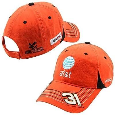 Jeff Burton #31 AT&T 2008 Official Pit Cap, Orange, Adjustable by Chase Authentics
