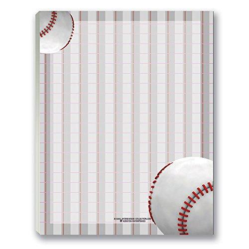 Baseball Notepads - Fun Baseball Theme Note Pads - Great Gift for Baseball (Baseball Theme Base)